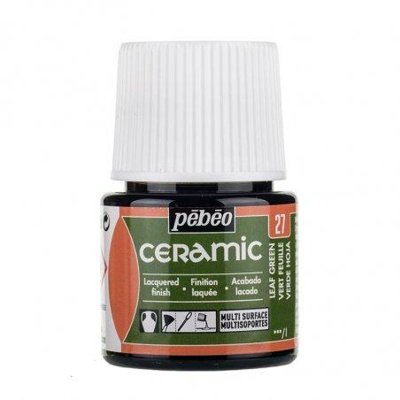 Краска-эмаль лаковая непрозрачная Ceramic Pebeo 27, цвет - зеленая листва