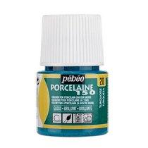 Краска под обжиг непрозрачная Porcelaine Pebeo 20, цвет - Турецкий Голубой, 45мл.
