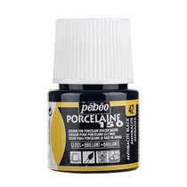 Краска под обжиг непрозрачная Porcelaine Pebeo 42, цвет - Антрацит Черный, 45мл.