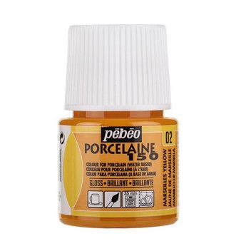 Краска под обжиг непрозрачная Porcelaine Pebeo 02, цвет - Желтый Теплый