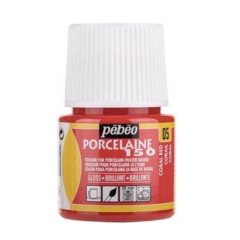 Краска под обжиг непрозрачная Porcelaine Pebeo 05, цвет -  Коралловый Красный