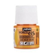 Краска под обжиг непрозрачная Porcelaine Pebeo 03, цвет - Оранжевый, 45мл.