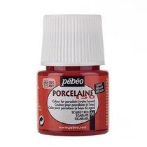 Краска под обжиг непрозрачная Porcelaine Pebeo 06, цвет - Красно-Алый