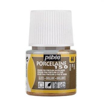 Краска под обжиг непрозрачная Porcelaine Pebeo 44 , цвет - Золотая