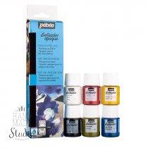 Набор красок Pebeo Setacolor Opaque, 6 цветов