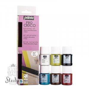 Набор акриловых красок Pebeo Deco Matt, 6 цветов