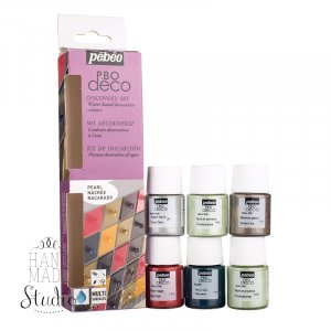 Набор акриловых красок Pebeo Deco Pearl, 6 цветов
