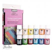 Набор акриловых красок Pebeo Deco Glossy, 12 цветов