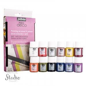 Набор акриловых красок Pebeo Deco Matt, 12 цветов