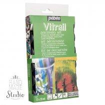 Набор красок Vitrail Pebeo 12 цветов