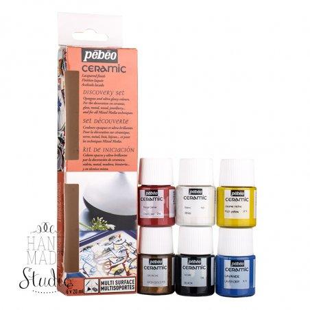 Набор красок Pebeo Ceramic 6 цветов
