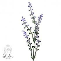 Декоративная веточка с фиолетовым цветом