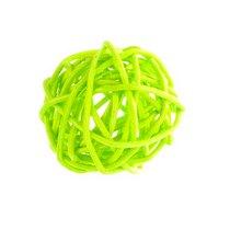 Шарик из ротанга, цвет салатовый 5 см.