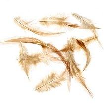 Перья светло-коричневые большие
