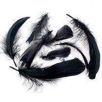 Перья черные, 5 штук