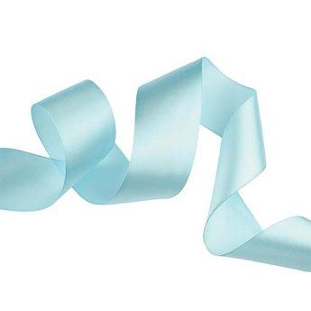 Атласная лента, цвет голубой, 50 мм