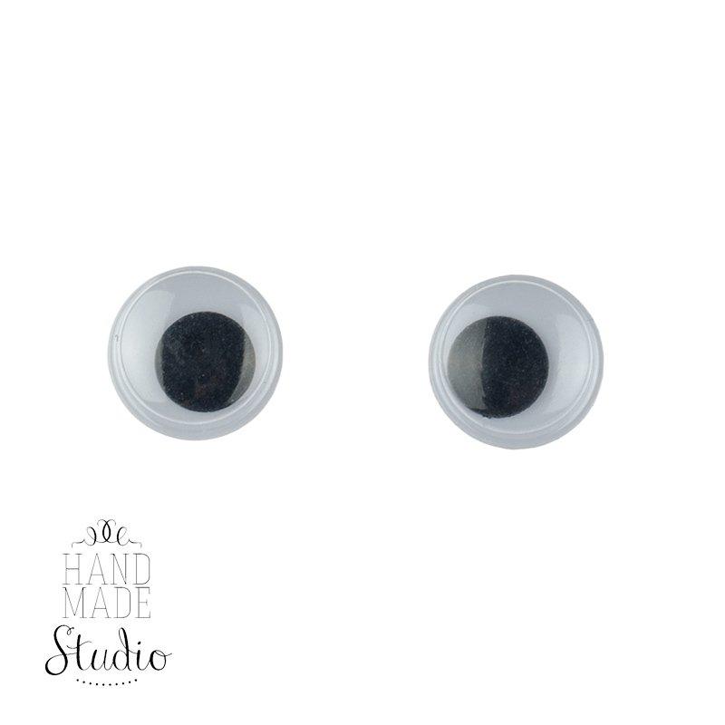 Глаза для игрушек и кукол, 0,8 см
