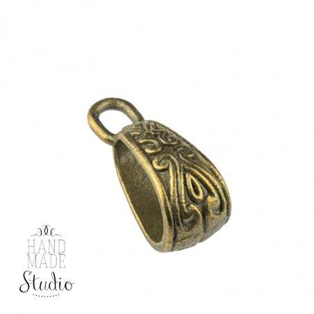Держатель для кулона 1,8 с петелькой, цвет античное золото
