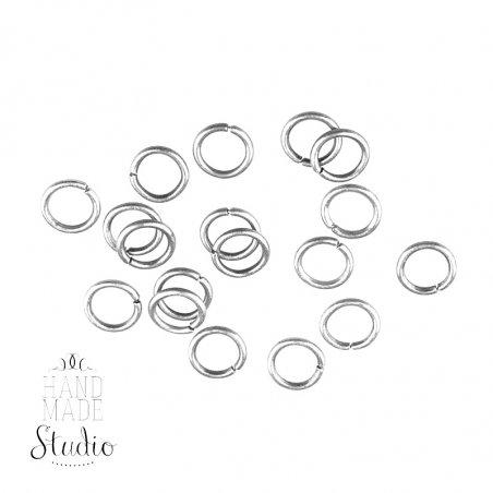 Соединительные кольца, цвет  серебро 0,8 см