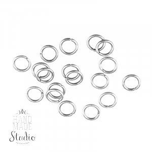 Соединительные кольца, цвет  серебро 1,2 см