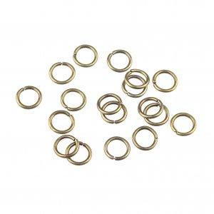 Соединительные кольца, цвет  бронза 0,7 см