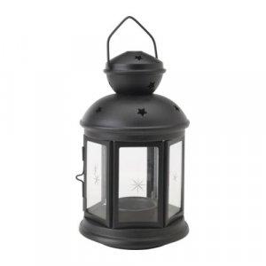 Подсвечник-фонарь, черный