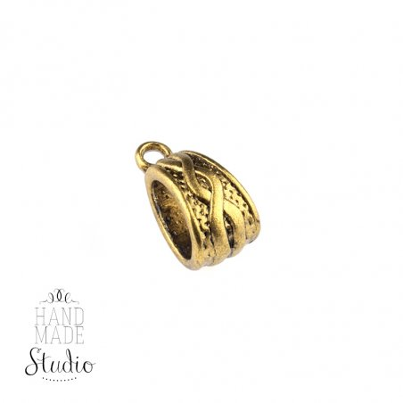 Держатель для кулона 1,4, цвет античное золото