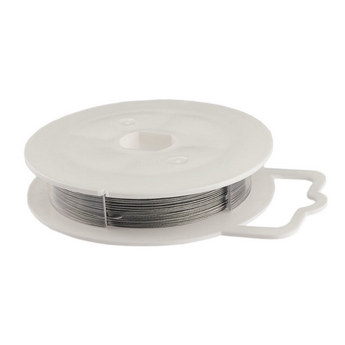 Ювелирная проволока (тросик), цвет - сталь, диаметр - 0,45 мм
