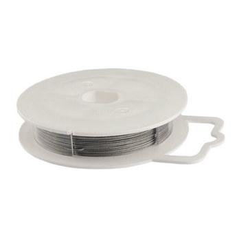 Ювелирная проволока (тросик), цвет - сталь, диаметр - 0,45 мм, свита из 19 нитей