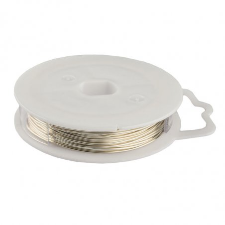 Медная проволока крашеная, цвет - серебро, диаметр - 0,8 мм
