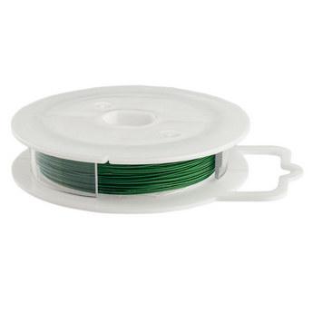 Ювелирная проволока (тросик), цвет - зеленый, диаметр - 0,45 мм
