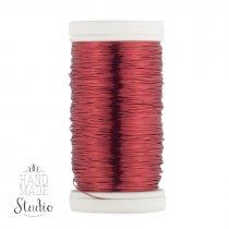 Бижутерная проволока, цвет - красный, диаметр - 0,3 мм