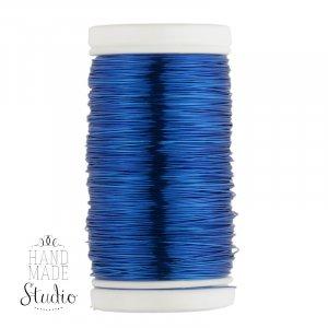 Бижутерная проволока, цвет - синий, диаметр - 0,3 мм