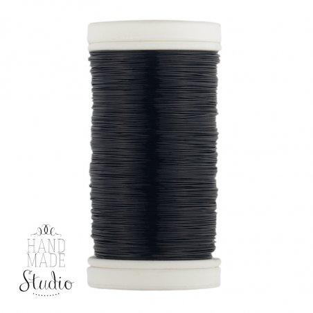 Бижутерная проволока, цвет - черный, диаметр - 0,3 мм