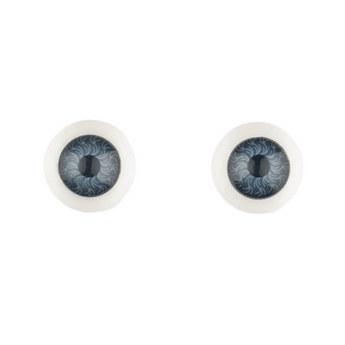 Глаза для кукол, цвет серо-синий, Ø12 мм