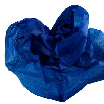 Бумага тишью, цвет -  темно-синий