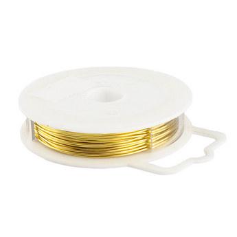 Медная проволока крашеная, цвет - золотой, диаметр - 0,8 мм