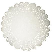 Ажурная салфетка, цвет - белый, 30 см