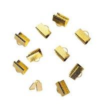 Зажимы для лент 10 мм, цвет - золото, 10шт