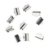 Зажимы для лент 10 мм, цвет - серебро, 10шт