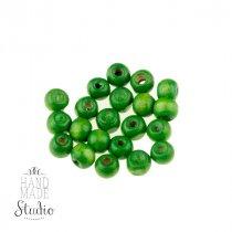 Деревянные бусины, цвет - зеленый, 0,7 см