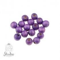 Деревянные бусины, цвет - фиолетовый, 0,8 см.