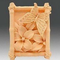 "Форма-элит для мыла ""Бабочка на цветах"""