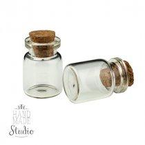 Стеклянная бутылочка с пробкой, 25х20мм, 1 шт