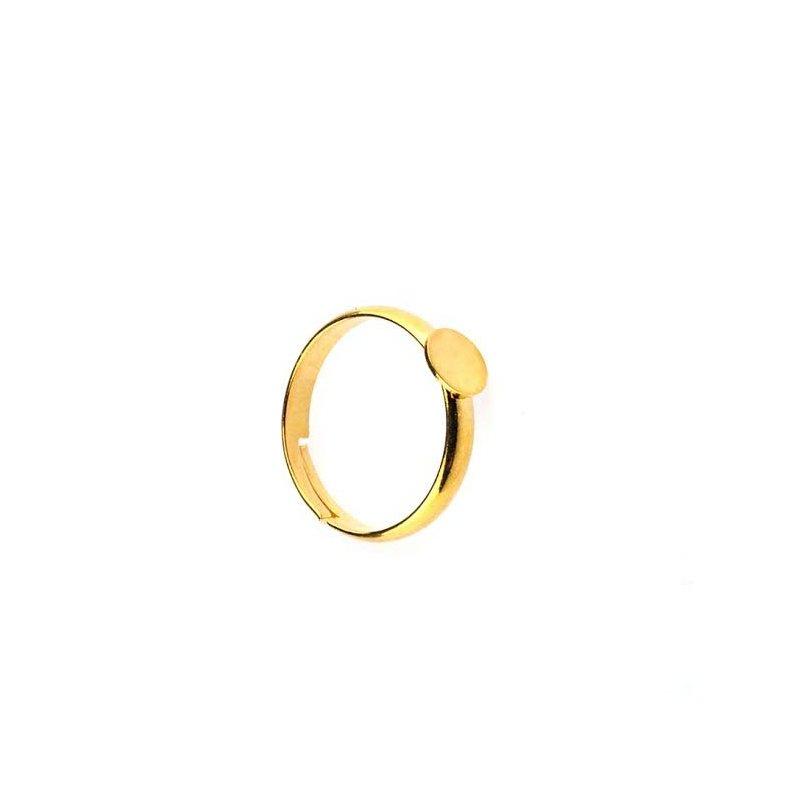 Основа для кольца с платформой 1 см, цвет - золото