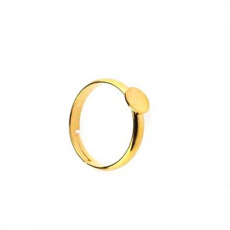 Основа для кольца, площадка 0,6 см, цвет - золото