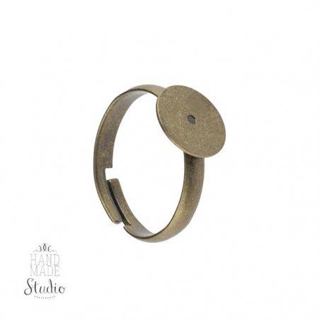 Основа для кольца с платформой 1 см, цвет - бронза
