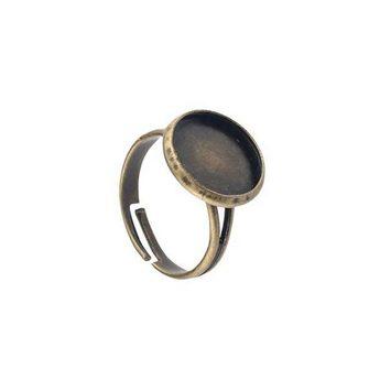 Основа для кольца 1,2 см, цвет - бронза