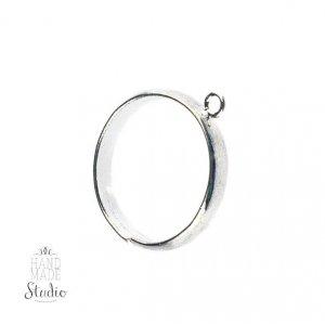 Основа для кольца с петелькой, цвет серебро
