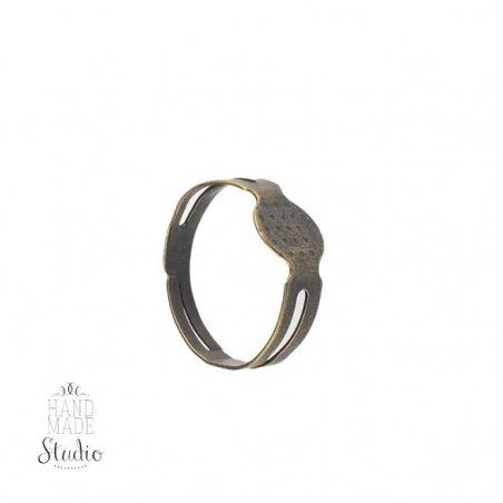 Основа для кольца, цвет - бронза